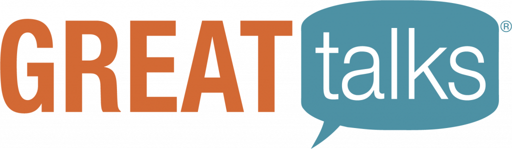 The logo of Great Talks® presented by Regent University's Center for Christian Thought and Action.