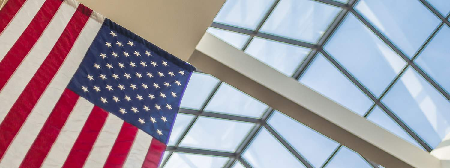 The American flag: Pursue a Master of Laws (LL.M.) in American Legal Studies at Regent University.