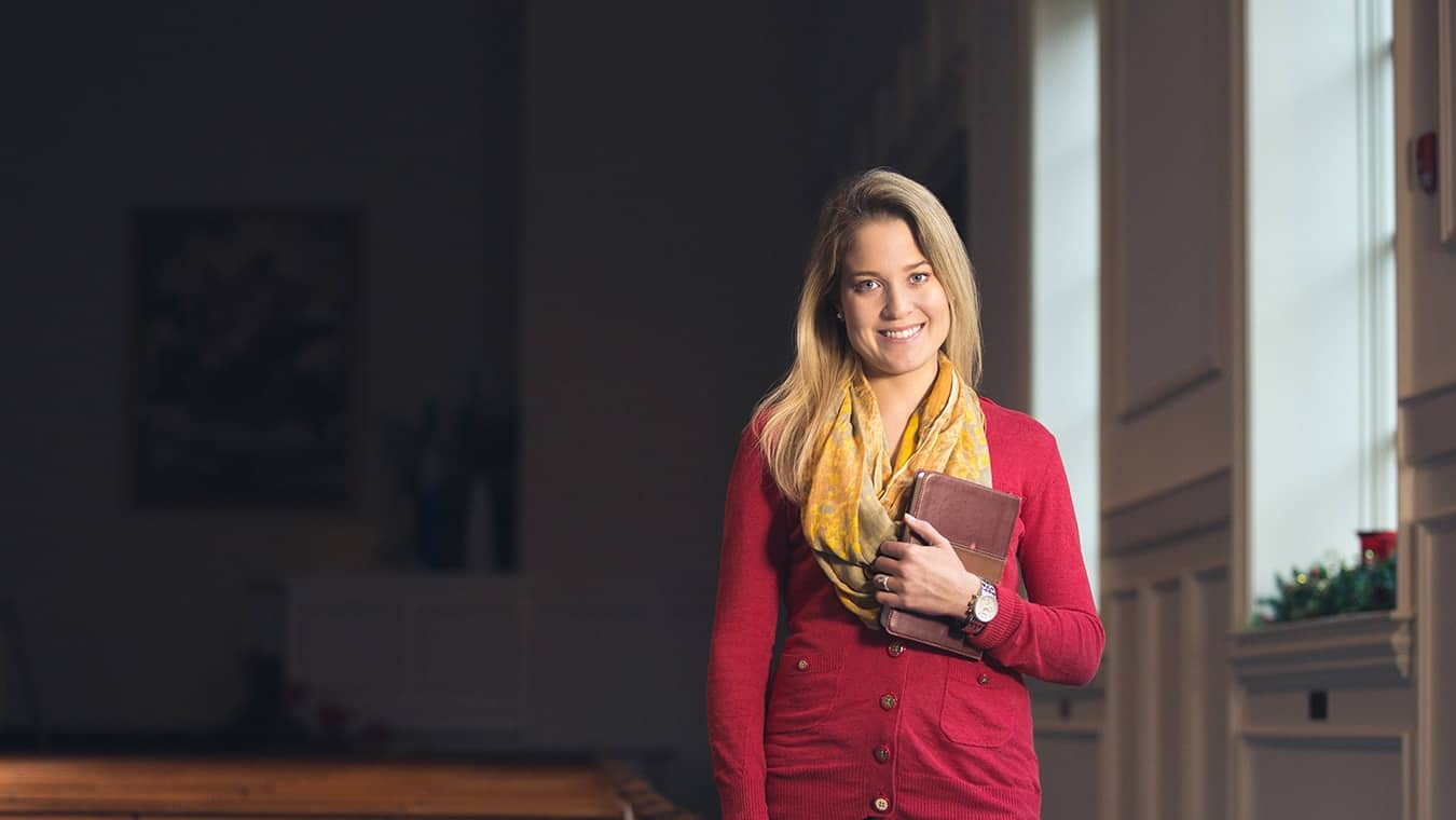 An alumna: Pursue a Master of Theology in Christian Theology degree at Regent University.