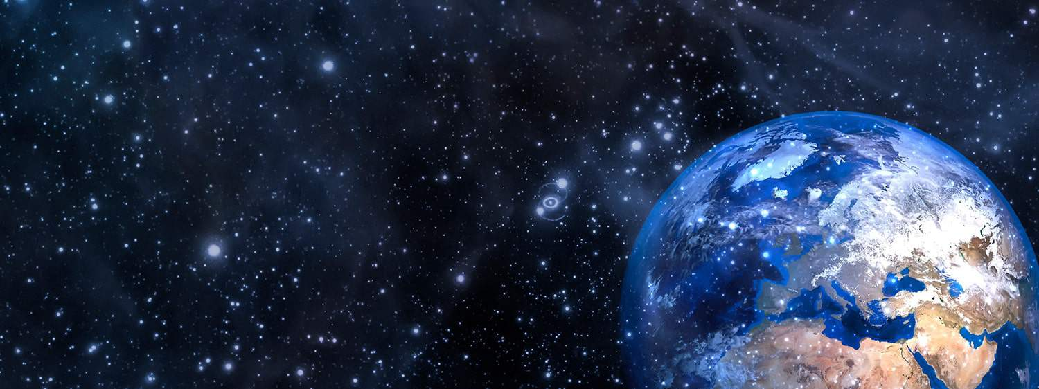 A view of earth from space: Pursue a Master of Arts in Apologetics degree at Regent University.