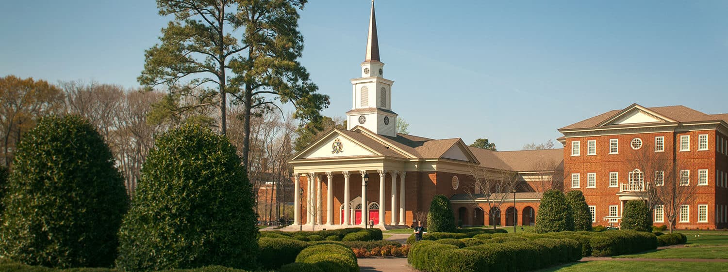 The chapel and Divinity Building of Regent University, Virginia Beach.