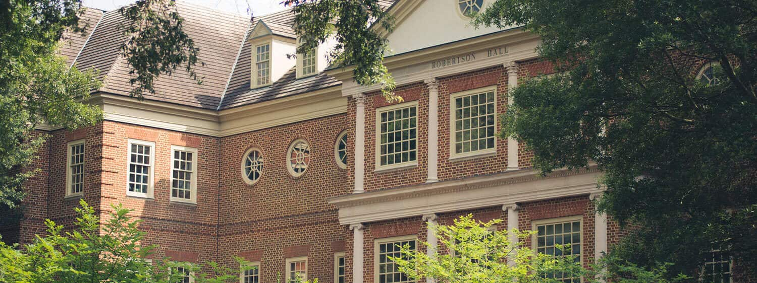 Robertson Hall, which houses the Regent University School of Law.