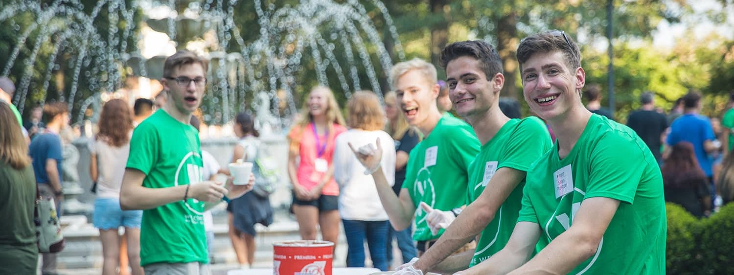 Welcome Week at Regent University, Virginia Beach, is for first-time freshman and transfers 23 years and younger.