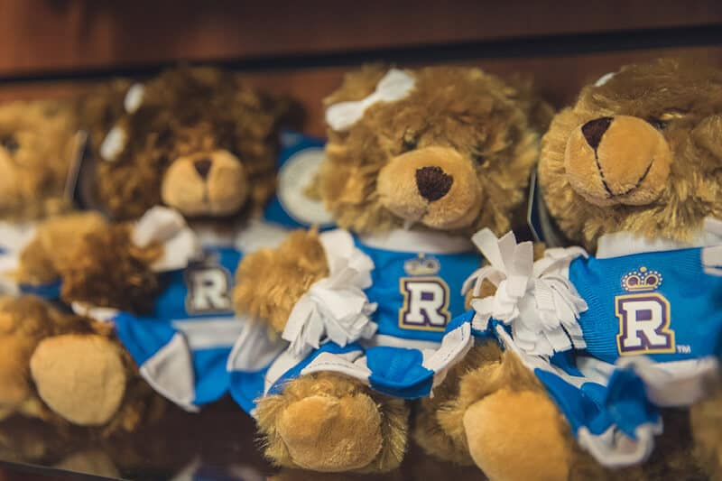 Teddy bears offered by the Regent University Gift Shop.