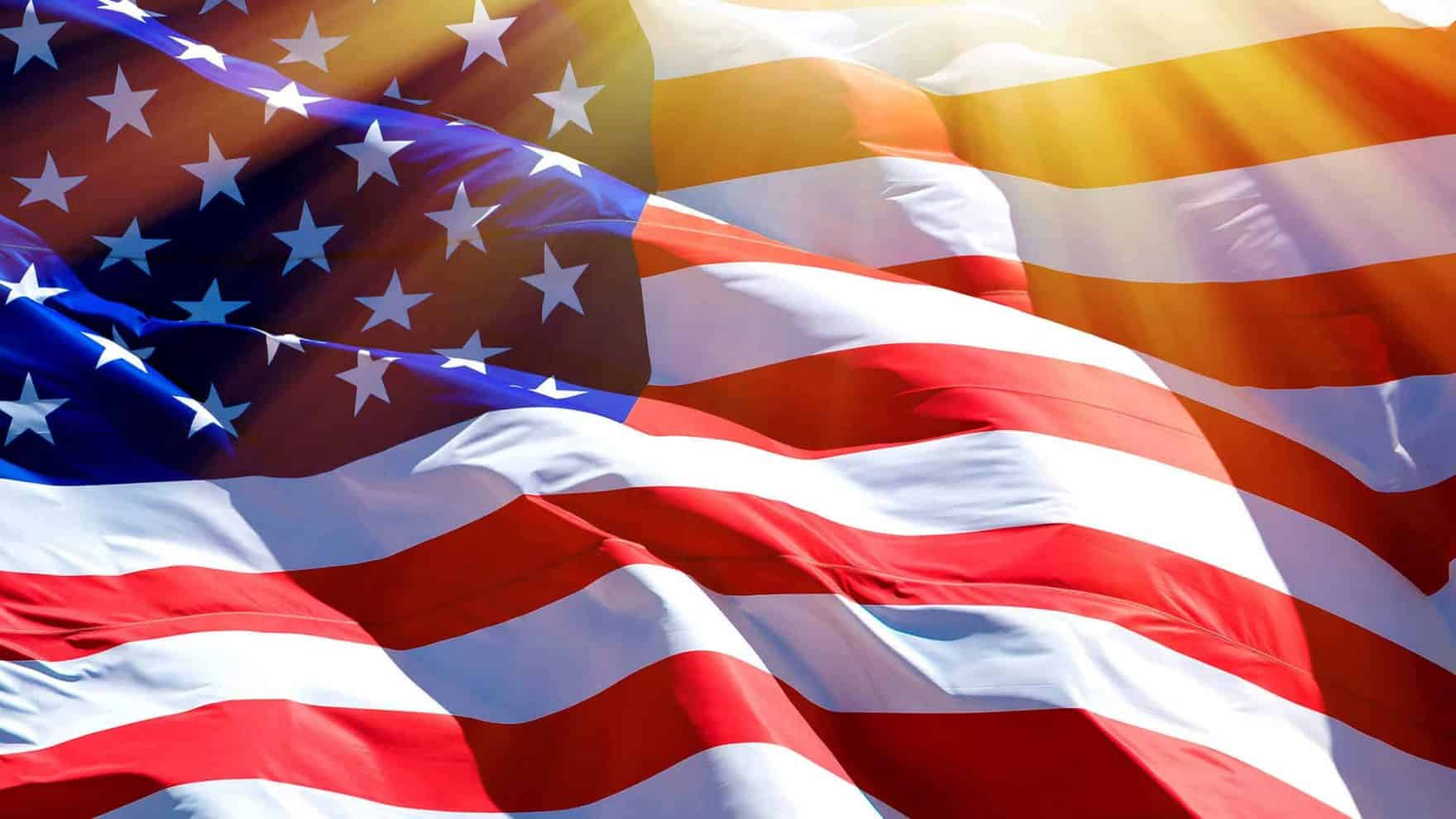 The American flag; Regent is offering a $10,000 Freedom Scholarship.