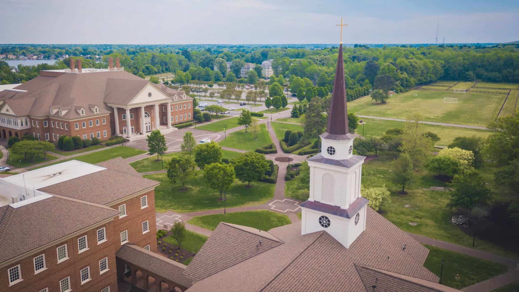 The beautiful Virginia Beach campus of Regent, a premier Christian university that is offering $4,000 Homeschool Scholarships.