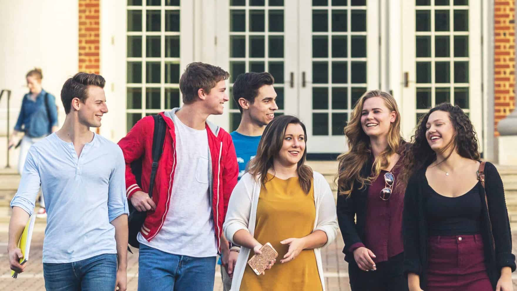 Students at Regent, a university that offers various scholarships for college freshmen.