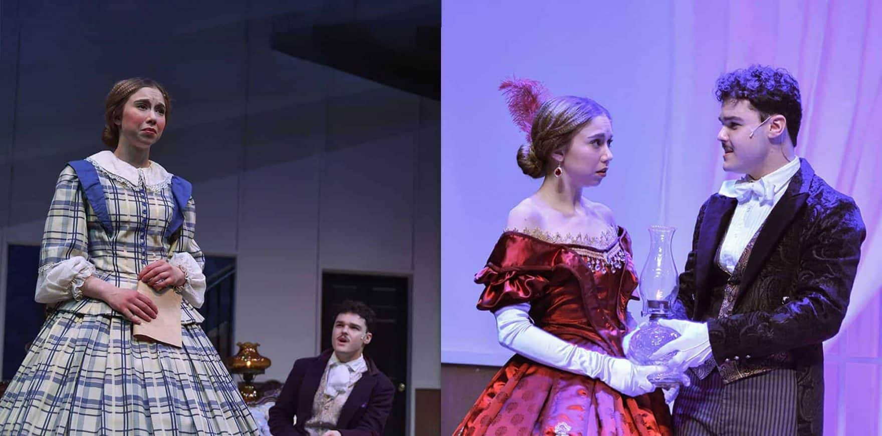 Scenes from 'The Heiress,' a psychological drama presented by Regent University Theatre in Virginia Beach.